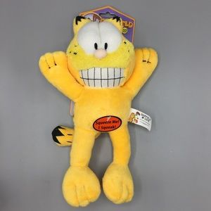 Garfield Plush Dog Toy with Squeaker